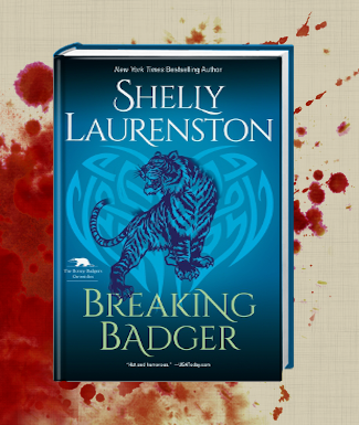 Breaking Badger Cover with Blood Splatter Theme